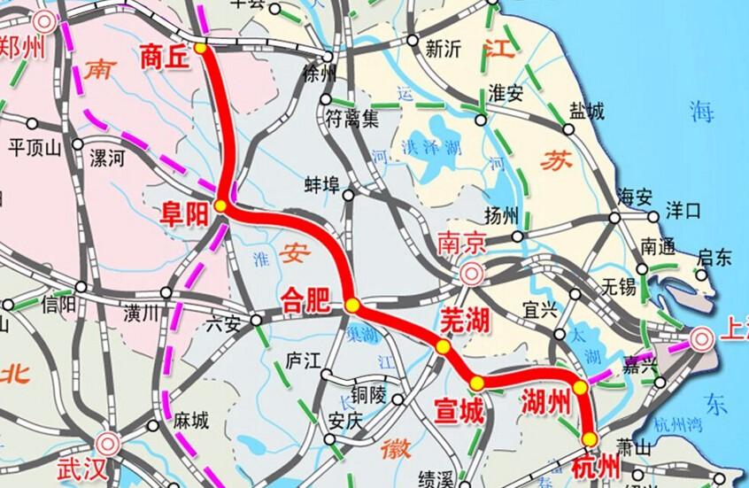 商合杭高铁巢湖段全面进入施工 设计时速350公里