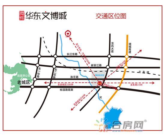 腾辉华东文博城交通图