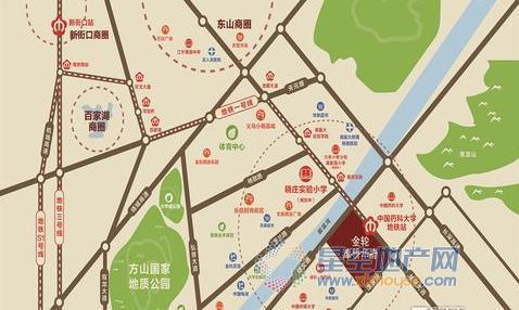 金轮津桥华府交通图