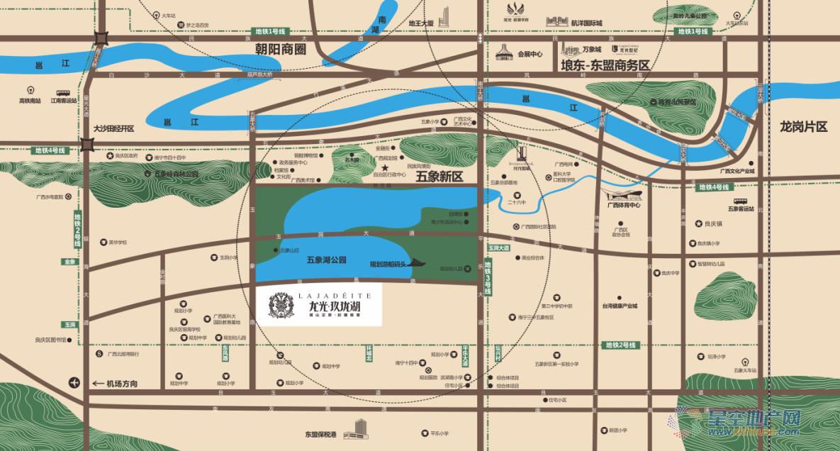 龙光·玖珑湖交通图