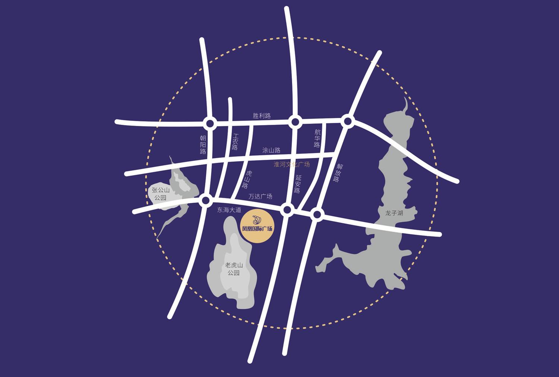 凤凰国际广场交通图