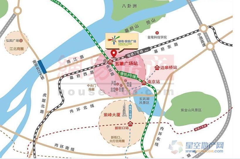 绿地缤纷广场交通图
