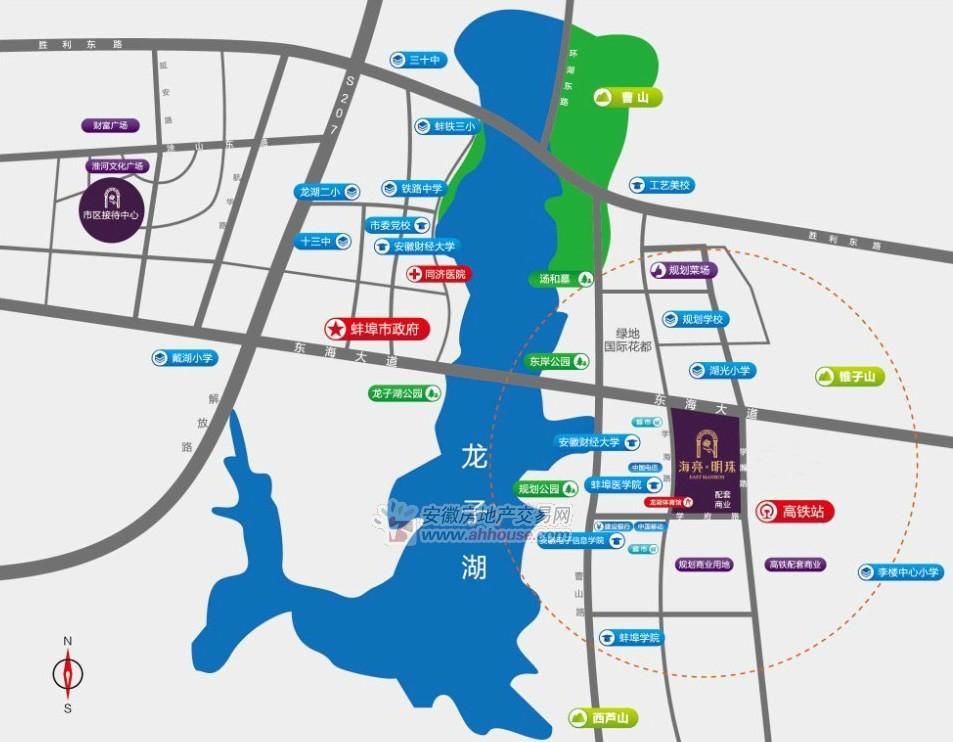 海亮城市广场交通图
