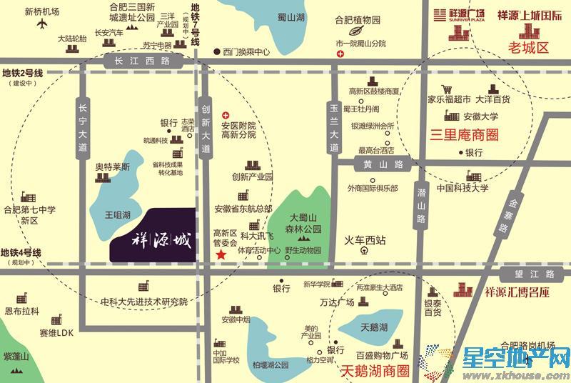 祥源城·湖山小筑交通图