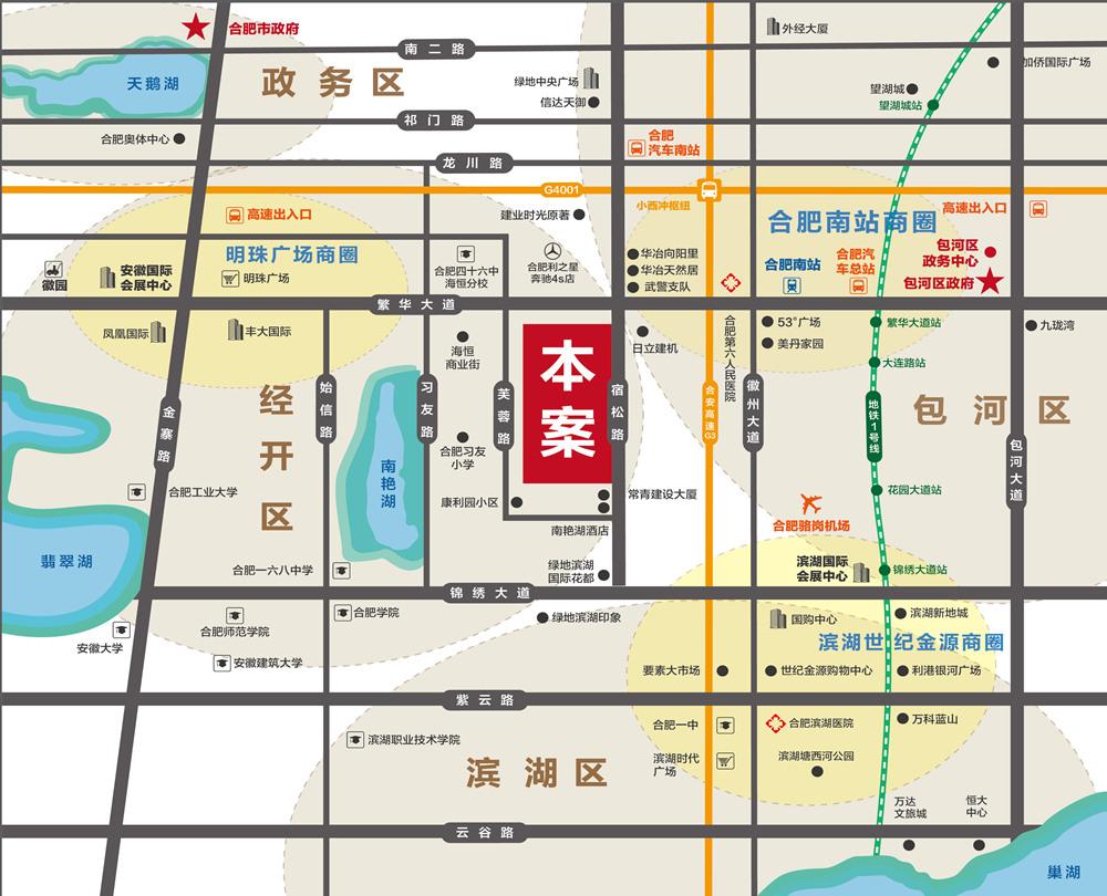 汇美广场交通图