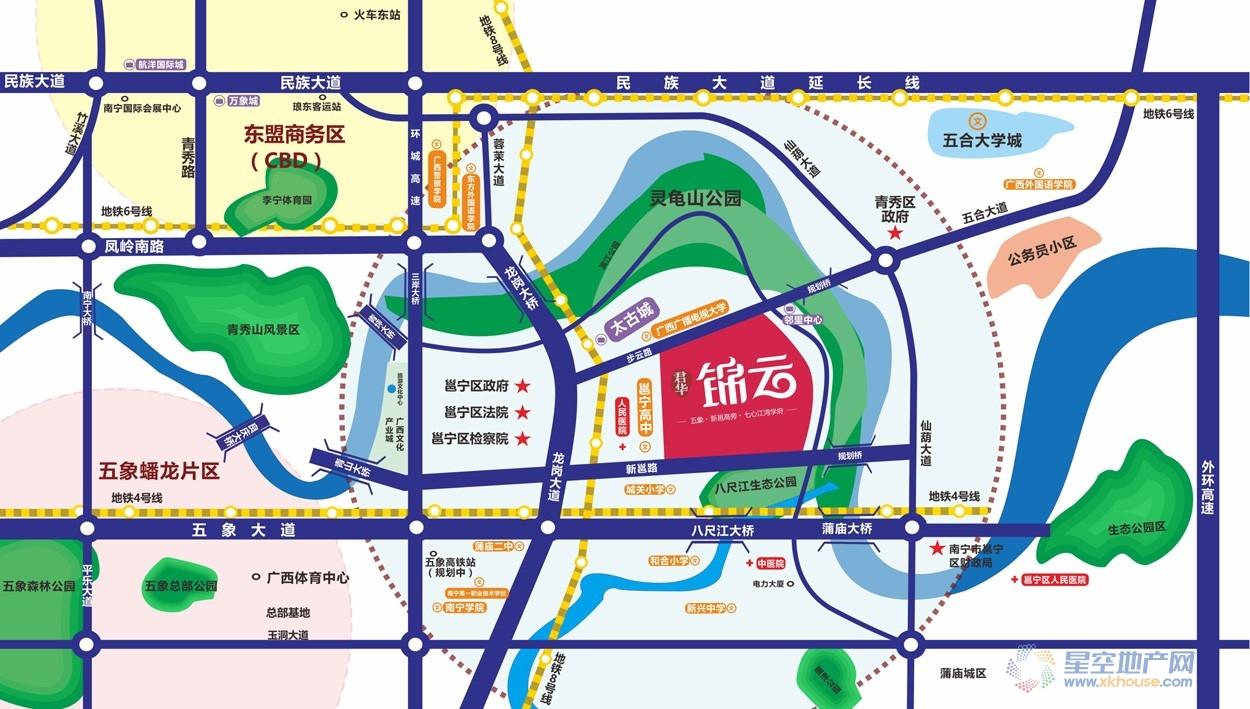 君华锦云交通图