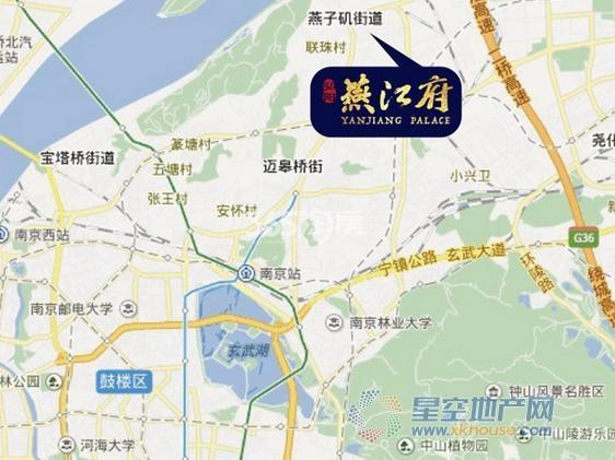 弘阳燕江府交通图