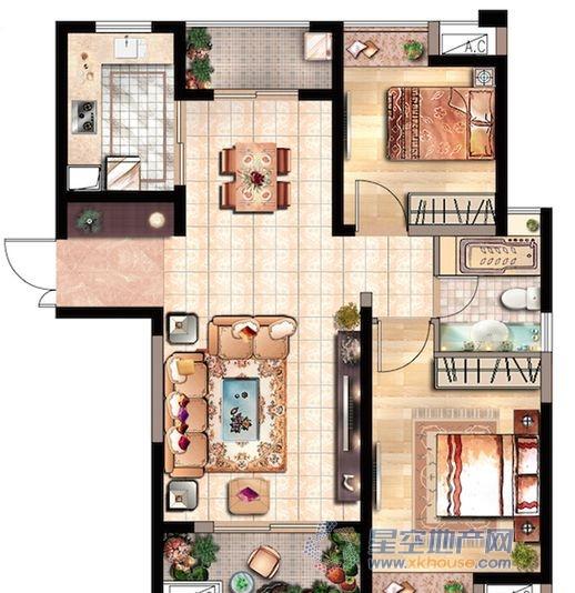 花园里_2室2厅1卫1厨