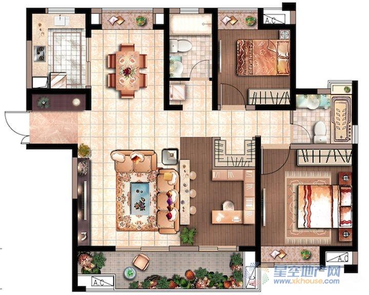 花园里_2室2厅2卫1厨