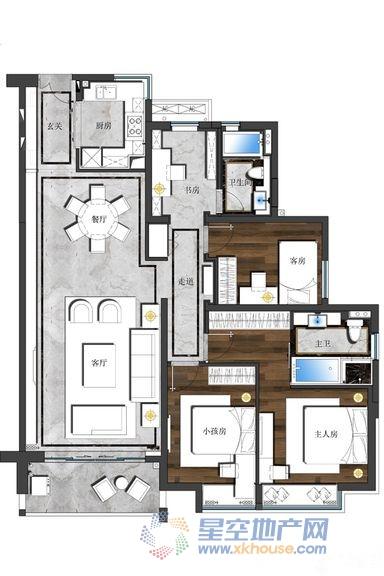 静安慕舍_4室2厅2卫1厨