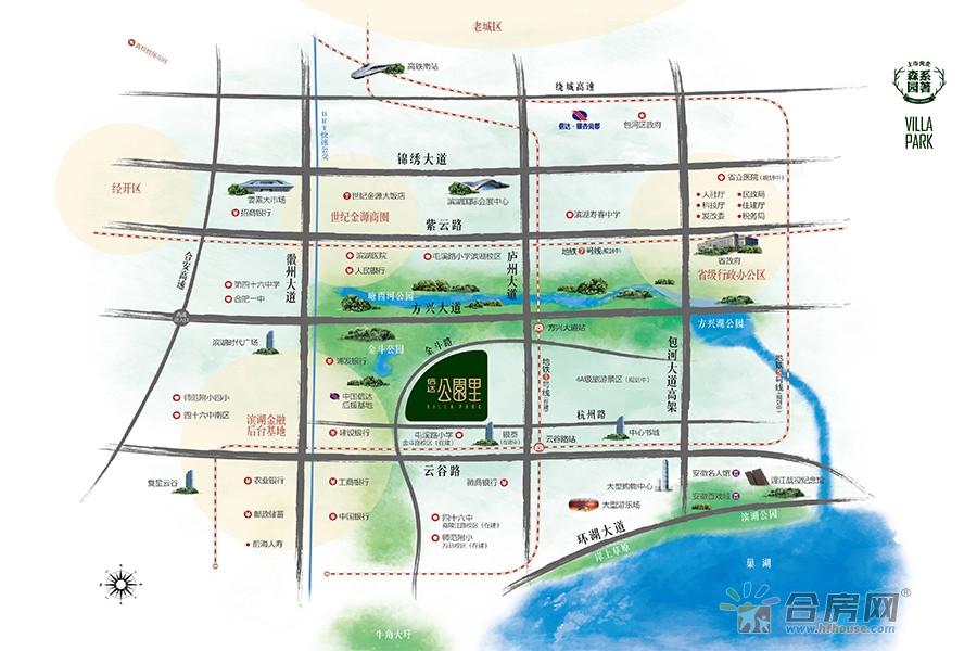 信达公园里交通图