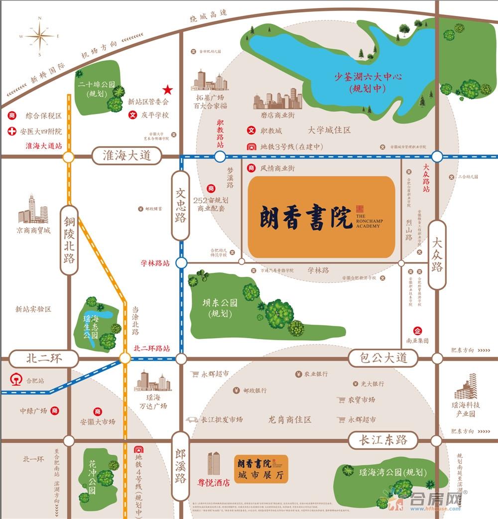 朗香书院交通图
