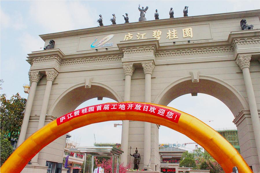 *现场:庐江碧桂园首届工地开放日隆重举行