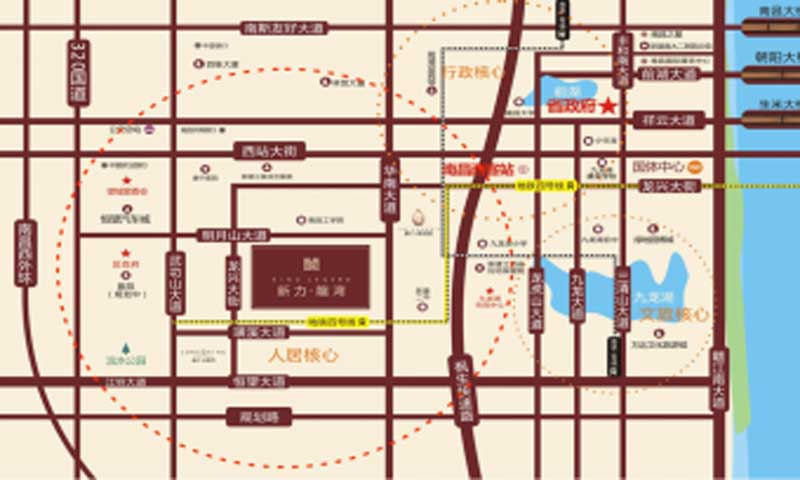 新力龍湾交通图