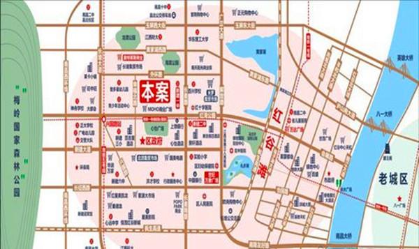 哈佛园交通图