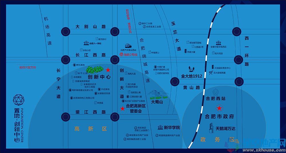 创新生活广场交通图