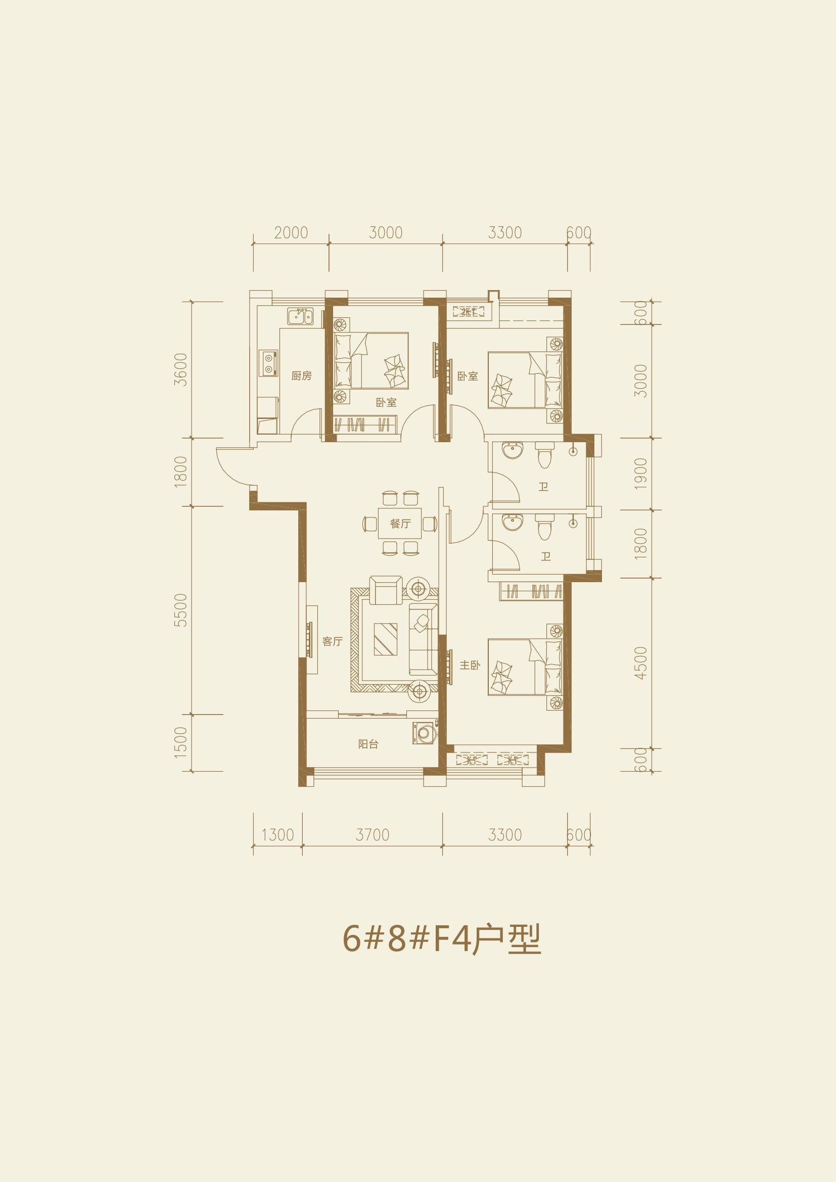星海城_3室2厅2卫1厨
