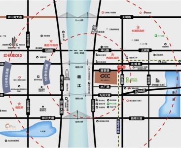 绿地朝阳中心交通图