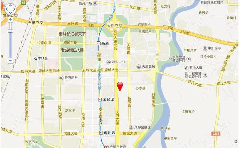 成都银泰中心华悦居交通图