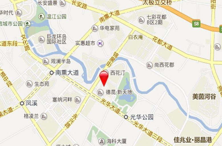 珠江·青云台交通图