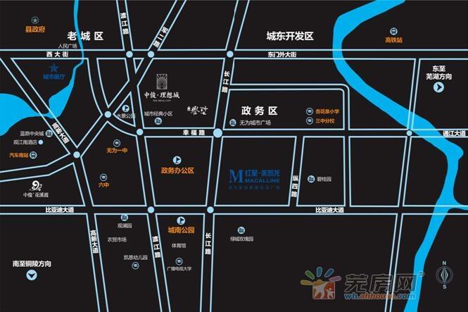 红星美凯龙•无为全球家居生活广场交通图