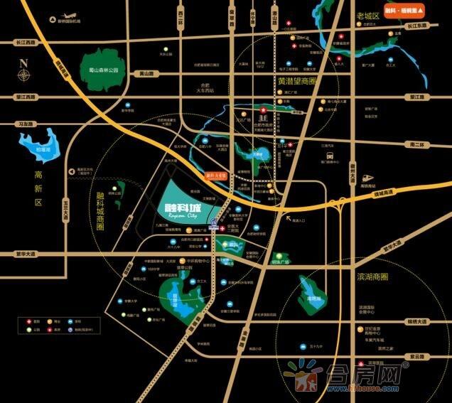 合肥融创城交通图