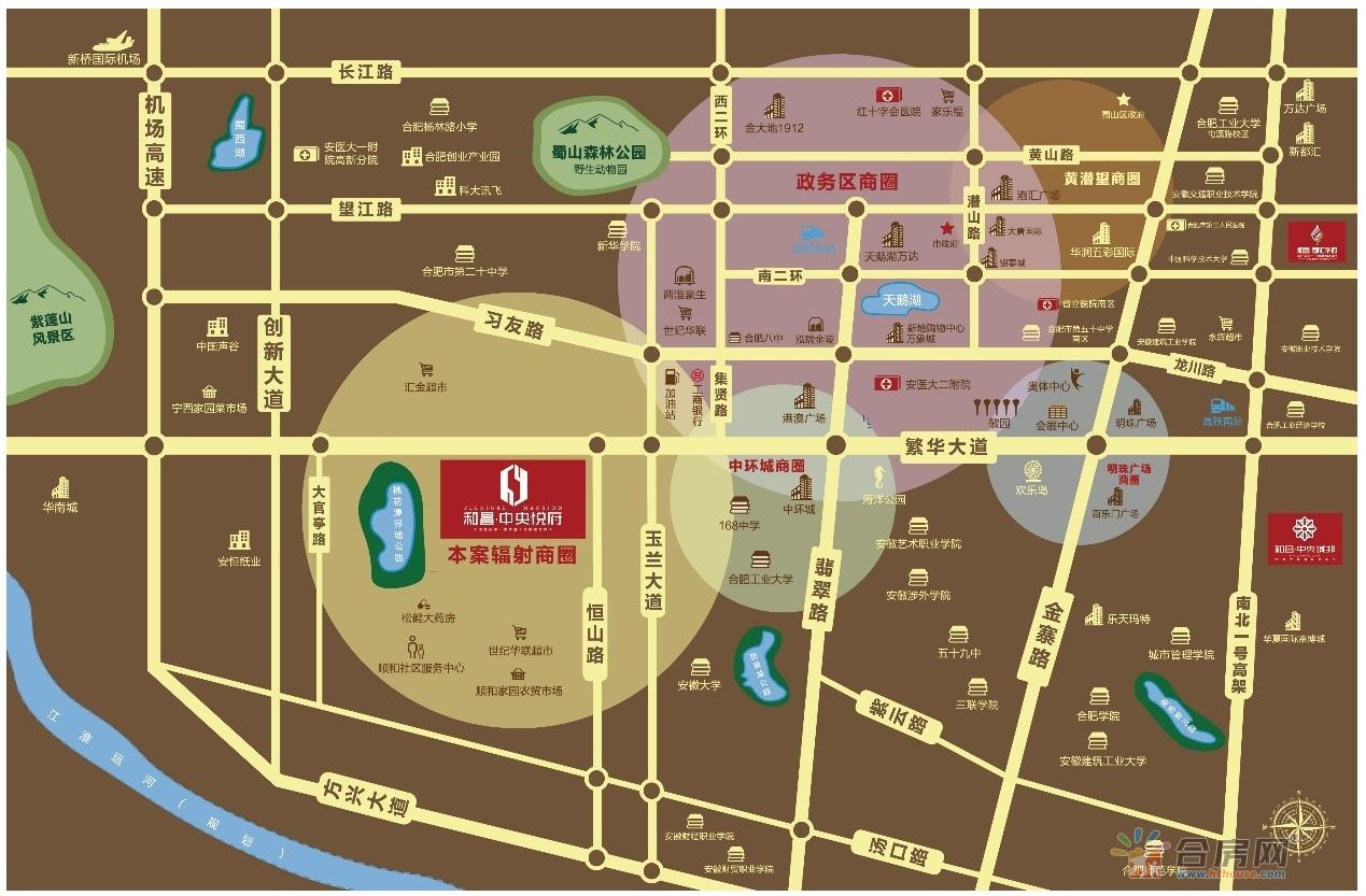 和昌海罗街交通图