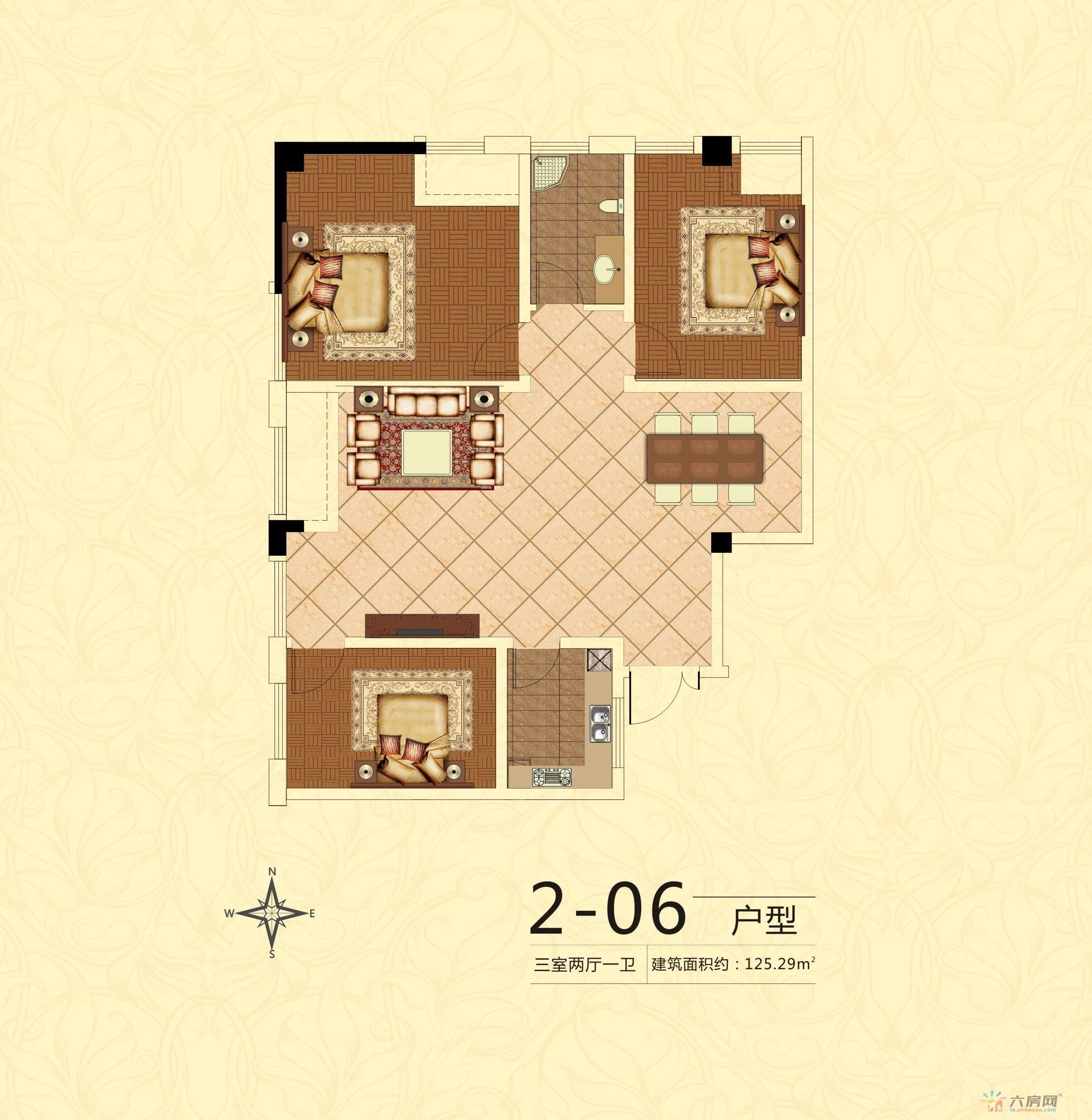 中银广场_3室2厅1卫0厨