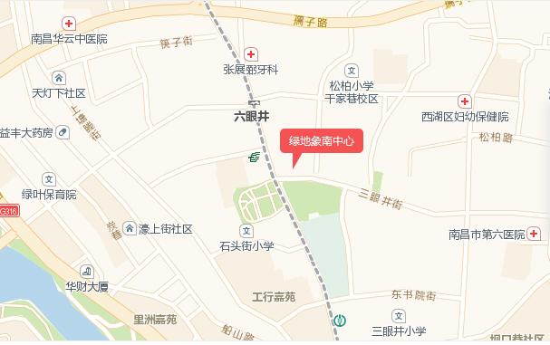 绿地象南中心交通图