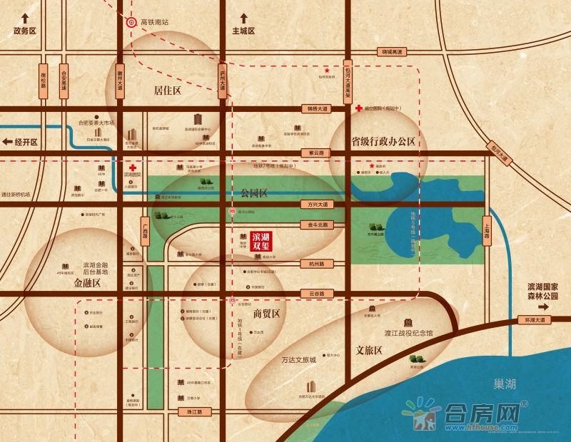 置地滨湖双玺交通图