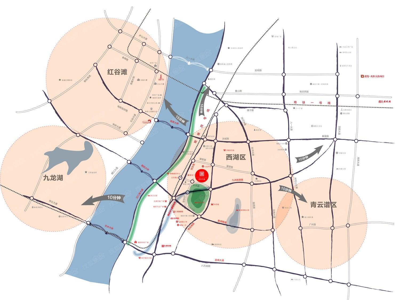 联发·公园前交通图