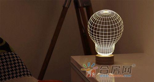 僅5mm厚的創意3D立體燈