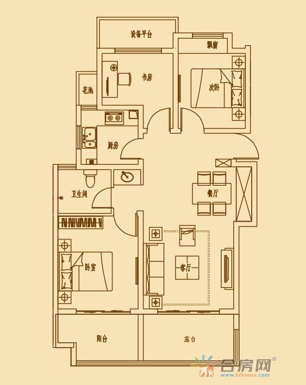 文一锦门北韵_3室2厅1卫1厨