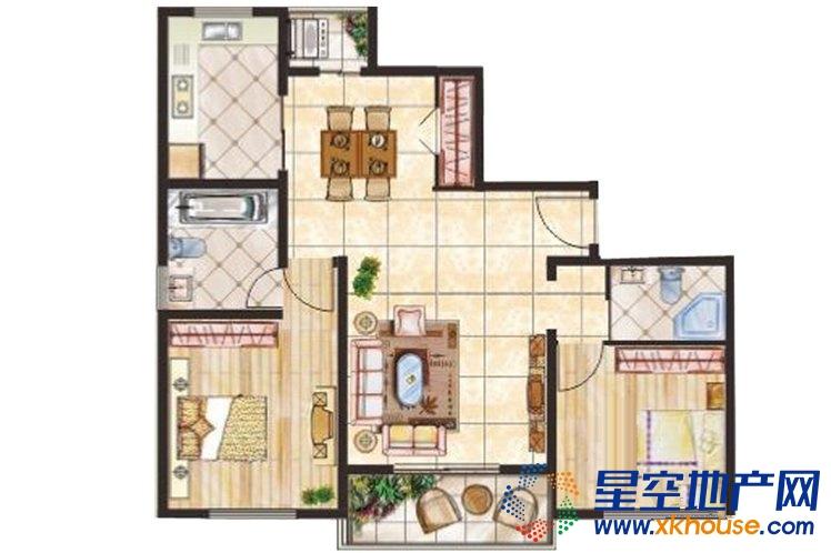 新城尚品_2室2厅2卫1厨