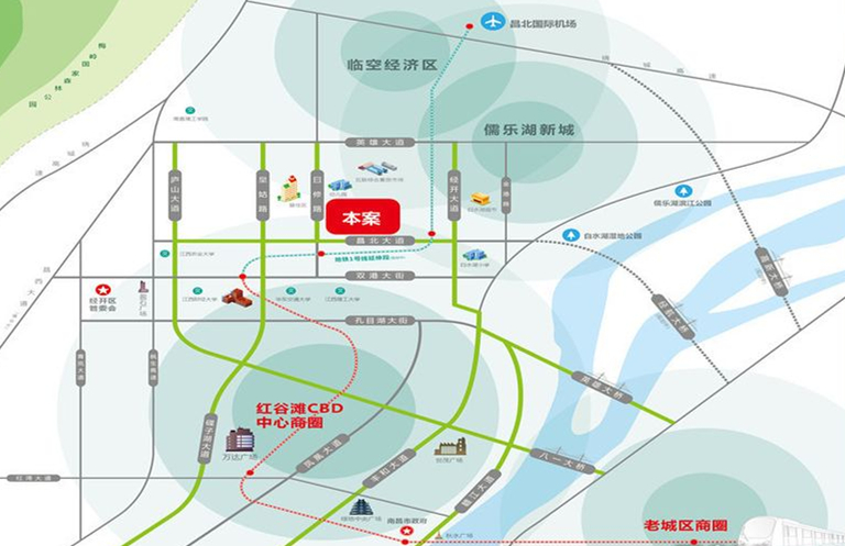 城泰枫华天成交通图