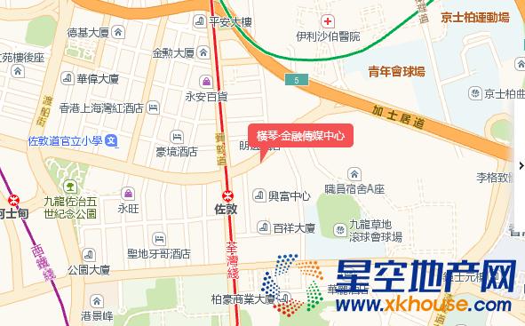 橫琴·金融傳媒中心交通图