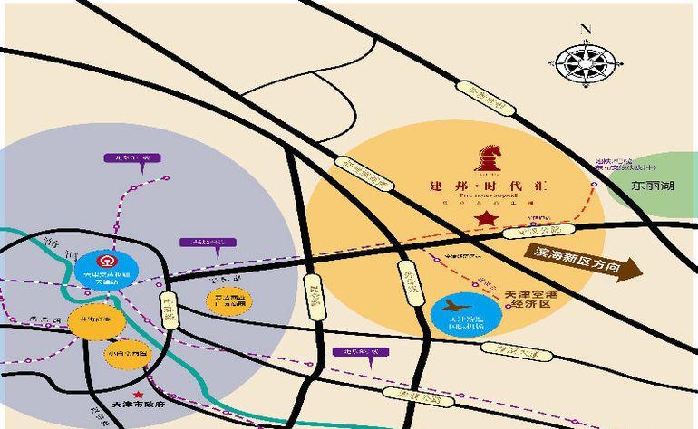 建邦时代汇交通图