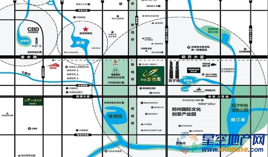 郑东碧桂园交通图