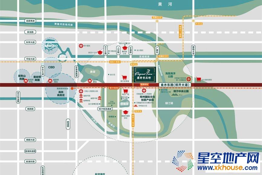康桥香溪郡交通图