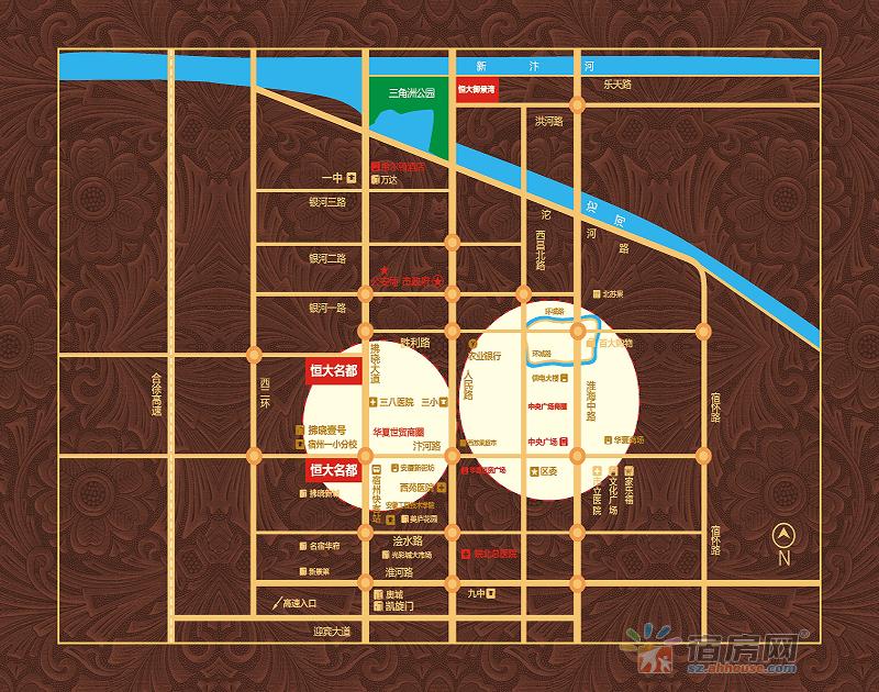 宿州恒大名都交通图
