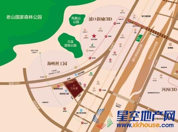 江山薈交通图