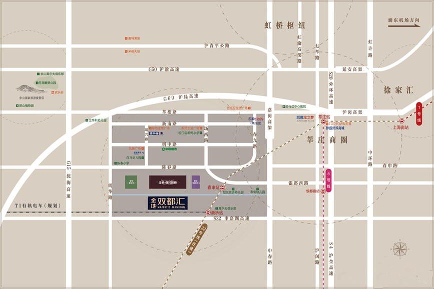 金地双都汇交通图