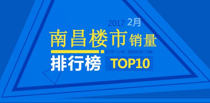 图说楼市:2017年2月南昌楼市销售排行榜