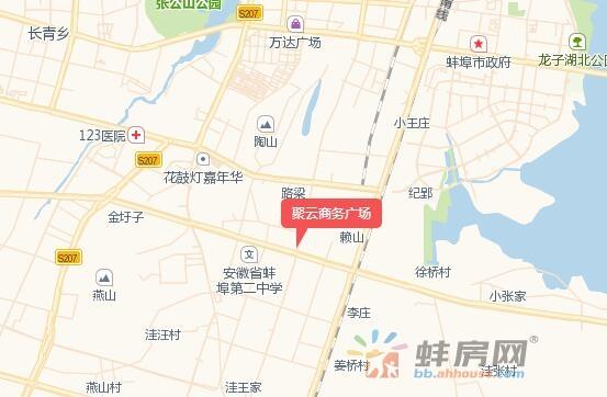 聚云商务广场交通图