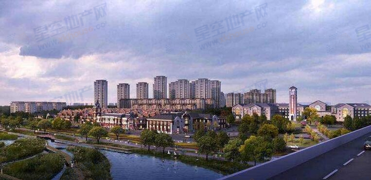 新江北孔雀城楼号图