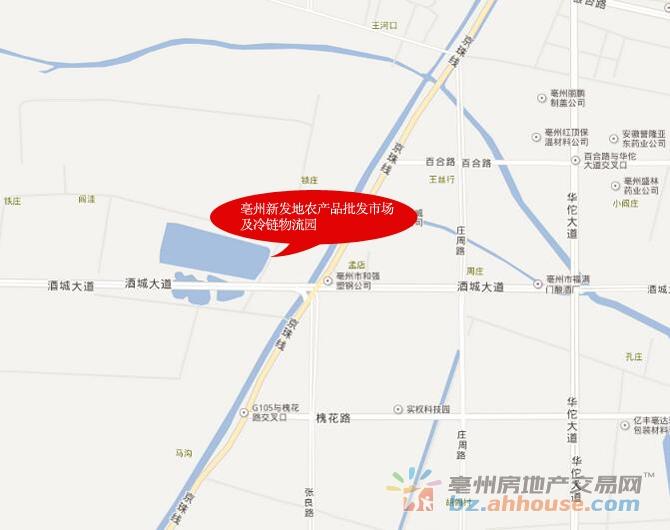 亳州新发地交通图