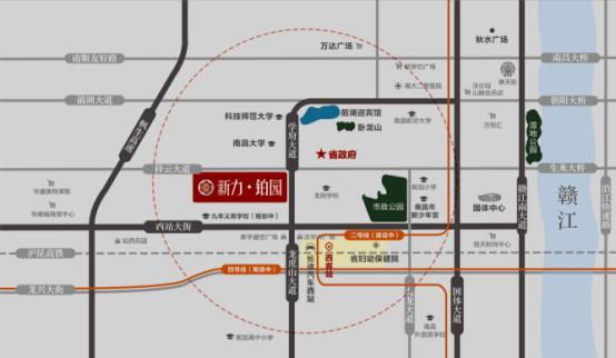 新力铂园交通图