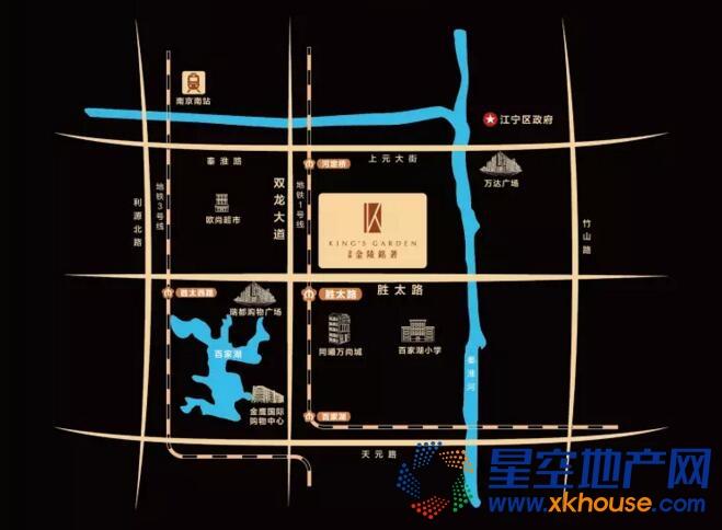 金辉禹洲金陵铭著交通图