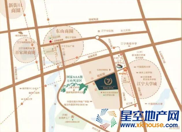 鲁能泰山7号院交通图