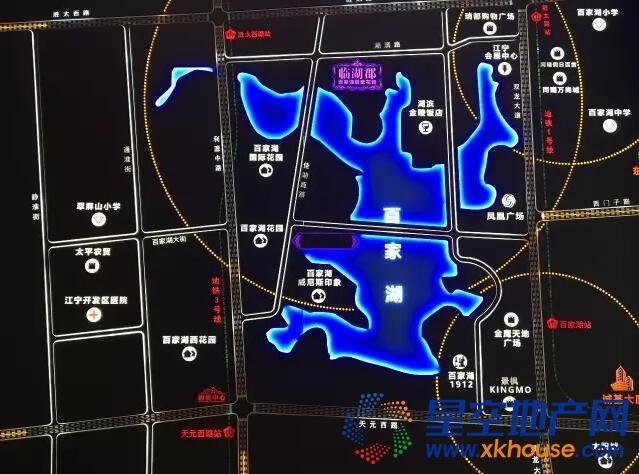百家湖别墅花园交通图